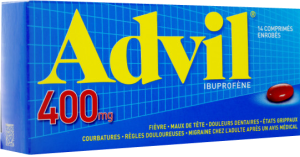 Advil 400 mg ibuprofène